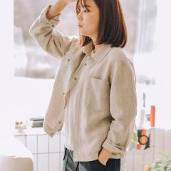 봄부터 가을까지 계절이 바뀌는 간절기를 포함하여 두루 입을 수 있는 '린넨 100%' 셔츠형 자켓